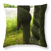 Trees With A Twist Throw Pillow