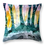 Treess Throw Pillow by Amy Sorrell
