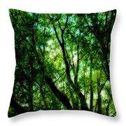 Treetops 1 Throw Pillow