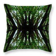 Treetops Abstract Throw Pillow