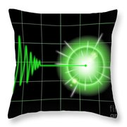 Tremor Black Throw Pillow