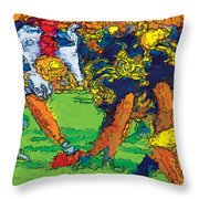 Trench Warfare Color Throw Pillow
