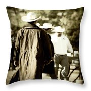 Trenchcoat Cowboy Throw Pillow
