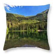Trentino - Caprioli Lake Throw Pillow
