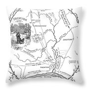 Trenton Map, 1777 Throw Pillow