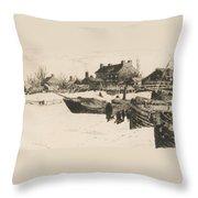 Trenton Winter Throw Pillow by Stephen Parrish