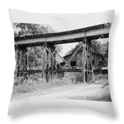 Trestle And Barn Throw Pillow