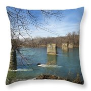 Trestle Of The Past Throw Pillow