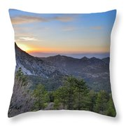 Trevenque Mountain At Sunset  2079 M Throw Pillow