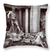 Trevi Fountain Detail Throw Pillow