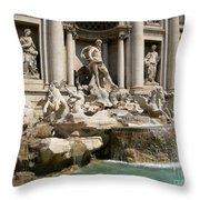 Trevi Fountain In Rome Italy Throw Pillow