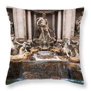 Trevi Fountain Throw Pillow by John Wadleigh