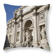 Trevi Fountain Rome Throw Pillow
