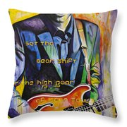 Trey Anastasio And Antelope Lryics Throw Pillow