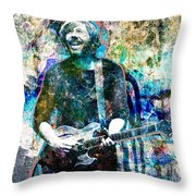 Trey Anastasio - Phish Original Painting Print Throw Pillow