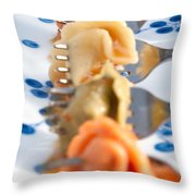 Tri Color Tortellini In Row Throw Pillow