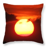 Tri Colored Sunset Throw Pillow