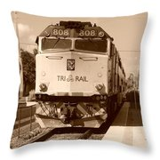 Tri Rail 808 Throw Pillow