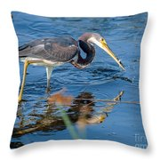 Tri With Fish Throw Pillow