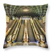 Triangeln Station Escalators Throw Pillow