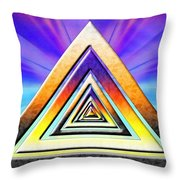 Triangle Pathway Throw Pillow