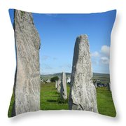 Triangular Callanish Stone Throw Pillow