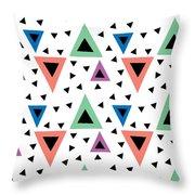 Triangular Dance Repeat Print Throw Pillow