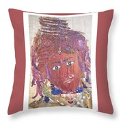 Tribal Beauty  Throw Pillow