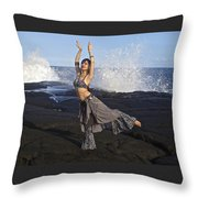 Tribal Belly Dancer Throw Pillow