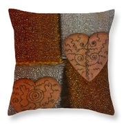 Tribal Hearts Throw Pillow