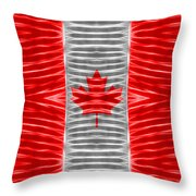 Triband Flags - Canada Throw Pillow