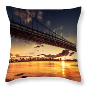 Triboro Sunset Throw Pillow