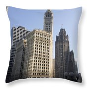 Tribune Tower Chicago Throw Pillow