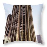 Tribune Tower Facade Throw Pillow