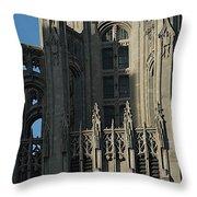 Tribune Tower Throw Pillow