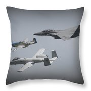Tribute Flight Wafb 09 Tribute Flight Throw Pillow