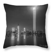 Tribute In Light Reflection Throw Pillow
