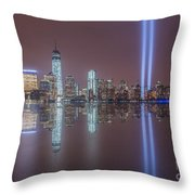 Tribute In Light Reflections Throw Pillow