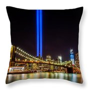 Tribute Lights From Brooklyn Throw Pillow