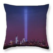 Tribute Lights Throw Pillow