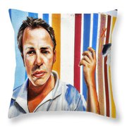 Tribute To Graffiti Throw Pillow