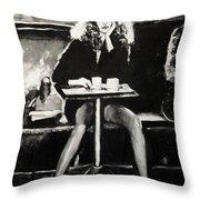 Tribute To Helmut Newton Throw Pillow