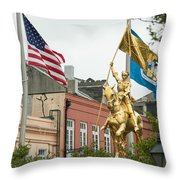 New Orleans Tribute To Joan Of Arc Throw Pillow