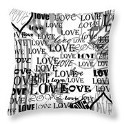 Tribute To Love In White Throw Pillow