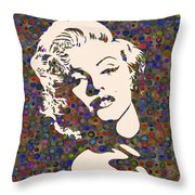 Tribute To Marilyn Monroe Throw Pillow