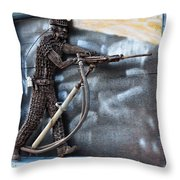 Tribute To The Miner Throw Pillow