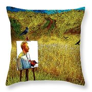 Tribute To Vincent Van Gogh - His Final Days Throw Pillow