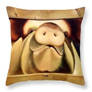 Tricia The Pig Throw Pillow