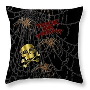 Trick Or Treat Halloween Digital Artwork Throw Pillow