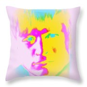 The Blue-eyed Joker Looks At Me, He Seems So Nice  Throw Pillow